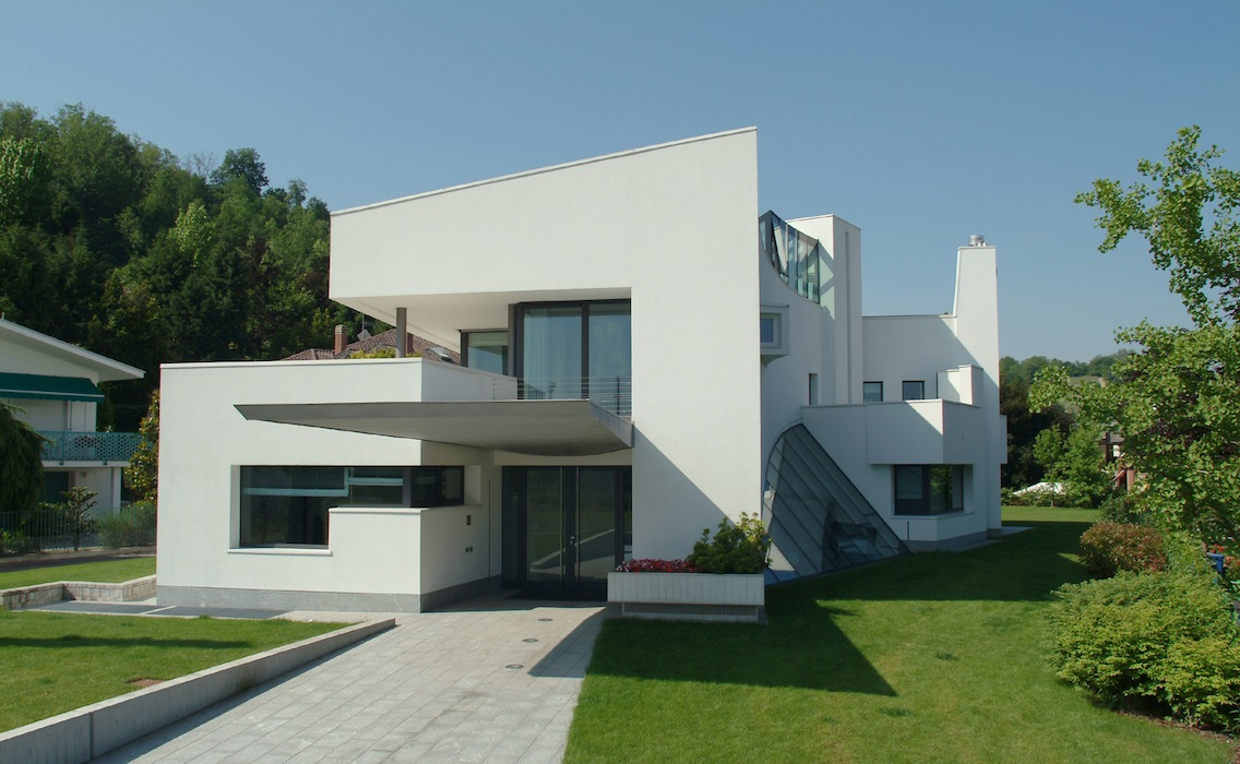 Casa farfalla edificio residenziale unifamiliare for Aprire i piani casa a due piani di concetto